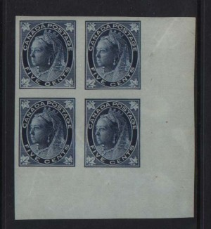 Canada #70a NH Mint Superb Imperf Corner Block *Cert.*