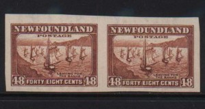 Newfoundland #199a XF/NH Imperf Pair  **With Cert.**