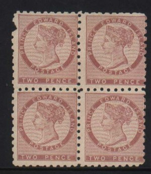 Prince Edward Island #1 Mint Rare Block  **With Certificate**