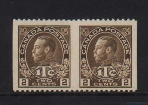 Canada #MR4iii XF Mint Imperf Between Pair
