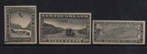 Newfoundland #C6P - #C8P Superb Set Of Proofs In Black