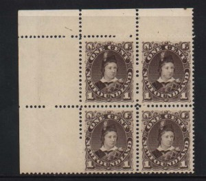 Newfoundland #43 XF/NH Showpiece Block **With Cert.**