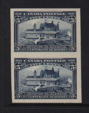 Canada #99ii XF Mint Imperforate Pair