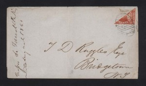 New Brunswick #9a Bisect Cover **With Certificate**