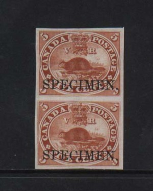 Canada #15TCiv XF Proof Pair On India Paper
