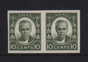 Canada #190a XF/NH Imperforate Pair  **With Certificate**