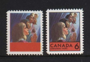 Canada #503a XF/NH Black Printing Error **With Certificate**