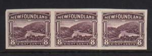 Newfoundland #137a XF Mint Imperf Strip Of Three