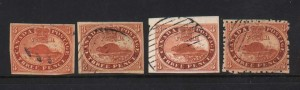 Canada #4f #12f 3 Pence Beaver Forgeries