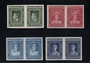 Newfoundland #245a - #248a XF Mint Imperforate Set