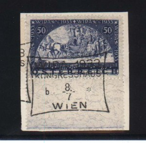 Austria #B110a VF Used On Piece With Sheet Margin