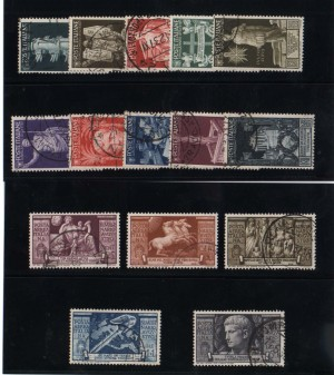 Italy #377 - #386 & #C95 - #C99 VF Used Sets With CDS