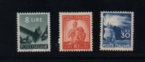 Italy #486 - #488 VF/NH Set