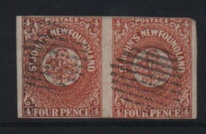 Newfoundland #4 Used Pair  **With Certificate**