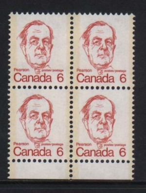 Canada #591a XF/NH Block Of Four  **With Certificate**