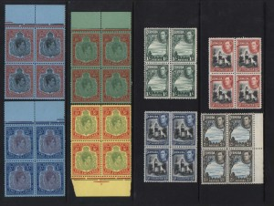 Bermuda #118 - #126 XF/NH Choice Blocks
