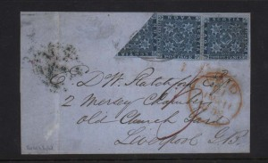 Nova Scotia #2a #2 Used Bisect On Folded Cover **With Cert.**
