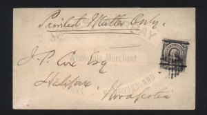 Newfoundland #77 VF Used On Cover To Nova Scotia