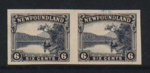 Newfoundland #136P XF Mint Trial Color Proof Pair