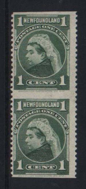 Newfoundland #80b Mint Imperf Between Pair