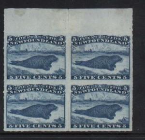 Newfoundland #40 XF Mint Rare Block