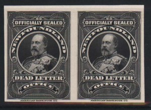 Newfoundland #OX1ii Superb Proof Pair On India On Card