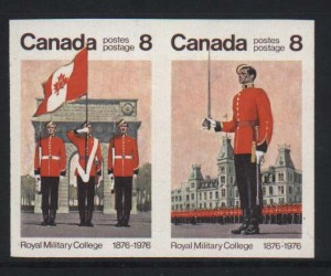 Canada #693b XF/NH Imperforate Pair