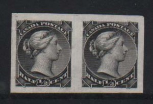 Canada #34P XF Proof Pair On India Paper