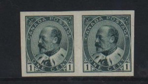 Canada #89a XF Mint Imperforate Pair