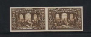 Canada #135a XF Mint Imperforate Pair
