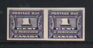 Canada #J11a XF/NH Imperforate Pair