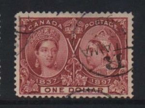 Canada #61 VF Used Rare Cancel MR 99  **With Cert.**