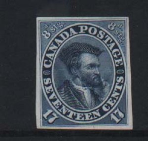 Canada #19P XF Plate Proof On India Paper
