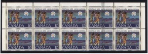 Canada #741 Mint Top Block Variety Of 10