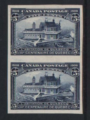 Canada #99a XF/NH Imperforate Pair **With Certificate**