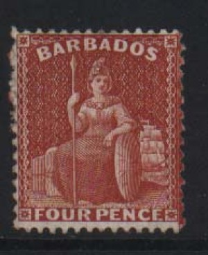 Barbados #53b (SG #84) Mint **With 2 Certificates**
