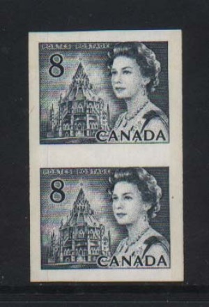 Canada #550iii XF/NH Hibrite Imperf Pair **With Cert.**