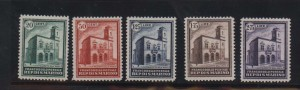 San Marino #134 - #138 VF/NH Rare Set