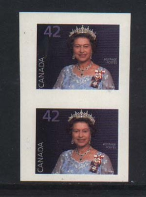 Canada #1357i XF/NH Imperforate Pair
