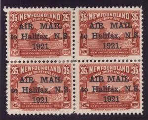 Newfoundland #C3 #C3b #C3f VF Mint Block