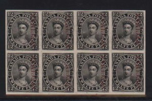 Canada #3Pi XF Proof Block Of Eight India On Card