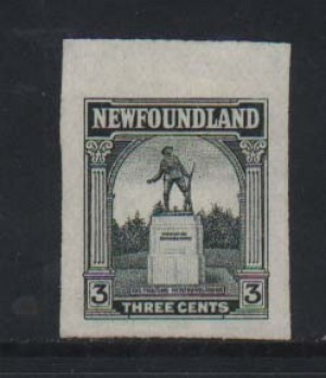 Newfoundland #133TCDP XF Trial Color Die Proof In Dark Green