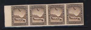 Newfoundland #C6c XF/NH Imperforate Strip Of Four