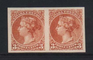 Canada XF Mint Dominion Of Canada Plate Essay Pair In Orange