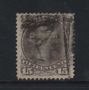 Canada #29 Used With Dramatic Paper Fold Error