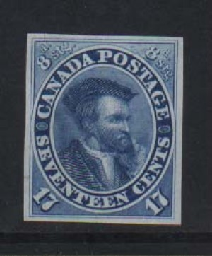Canada #19TC XF Proof On India Paper