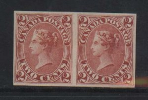 Canada #20b XF Mint Imperf Pair  **With Certificate**