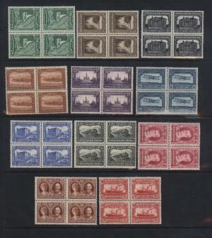 Newfoundland #172 - #182 NH Mint Block Set