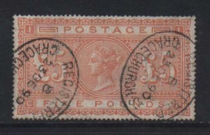 Great Britain #93 VF Used With Dec 1890 Oval Cancels