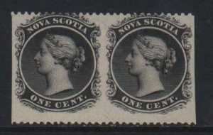 Nova Scotia #8c Mint Horizontal Pair